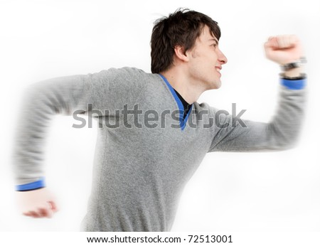 a man running - stock photo