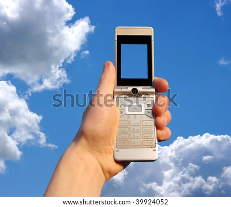 a mobile phone on sky