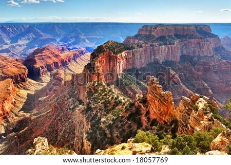 A mountain circuit inside Grandee of the Canyon in the USA. - stock photo