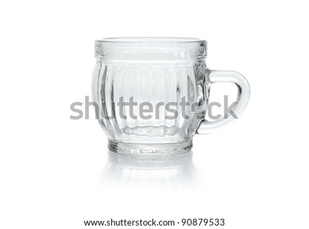 a small crystal glass isolated on white background - stock photo