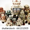 a team of robots - stock photo