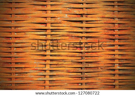 a wattled willow rod background - stock photo