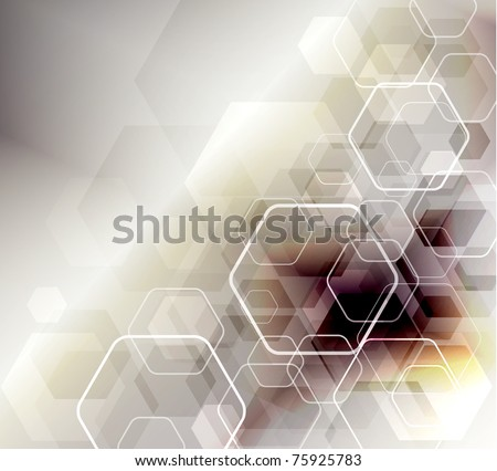 Abstract Background in techno style, raster illustration - stock photo