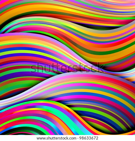 abstract background of bright lines of gradient - stock photo