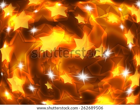 Abstract background with luminous stars.  - stock photo