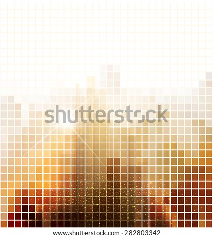 abstract banner for business with the city - stock photo