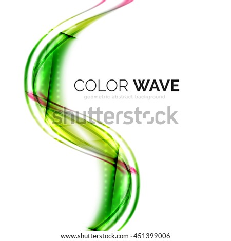 abstract color wave design element - stock photo
