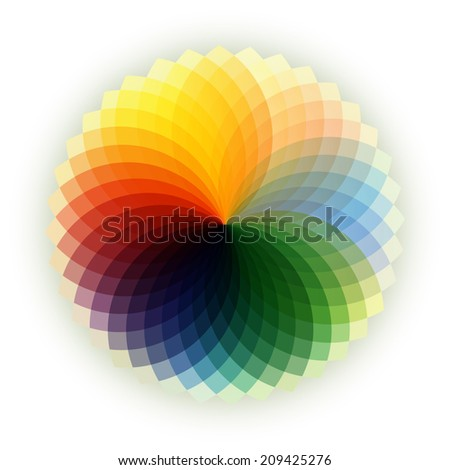 Abstract colorful light spectrum . - stock photo