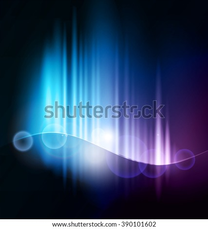 Abstract dark background with shiny light lines - stock photo
