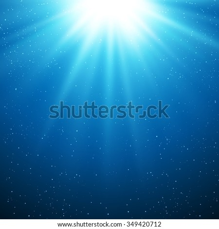 Abstract magic light background. Blue color design with a burst