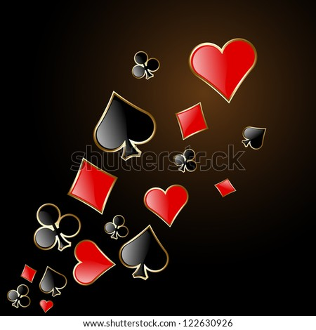 abstract play card background - stock photo