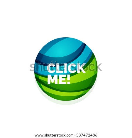 sphere net template - vector abstract sphere button template minimalistic stock