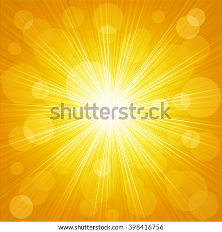 Abstract sunburst light background - stock photo