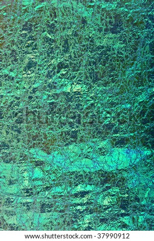 abstract texture blue and green foil
