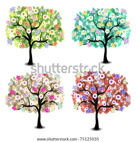 4 Abstract tree background