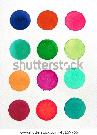 Abstract watercolor background     circles - stock photo