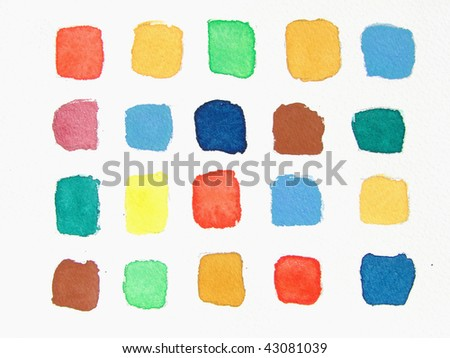 abstract watercolor background   squares - stock photo
