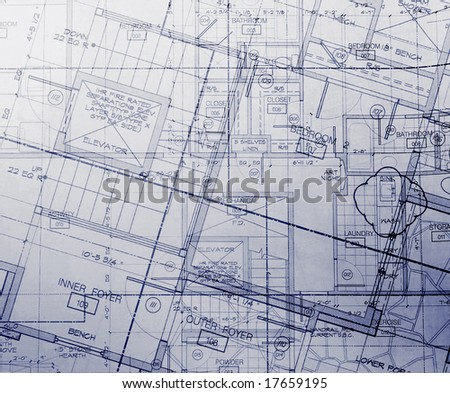 abstracted plans - stock photo