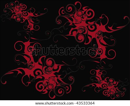 Abstraction with swirls - stock photo