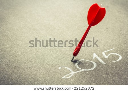 2015 accurate goal setting concept - stock photo