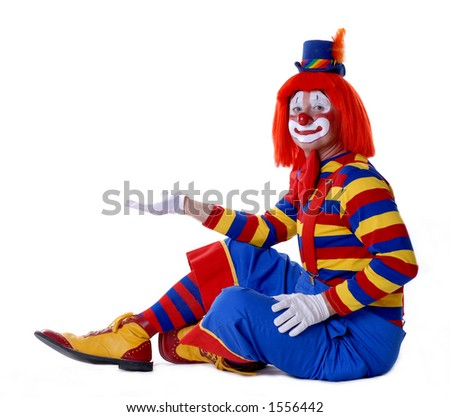 """Add Your Product"" Circus Clown #2 - stock photo"