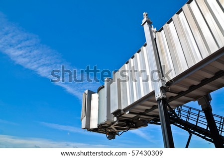 aerobridge at Suvarnabhumi airport,thailand - stock photo