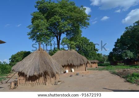 African village - stock photo