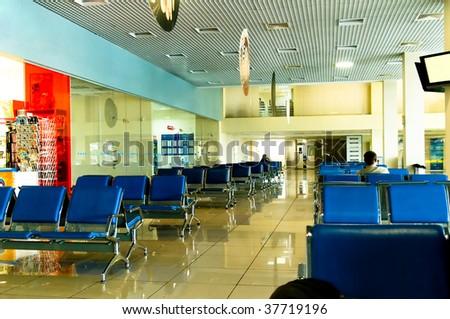 Airport. Waiting room - stock photo