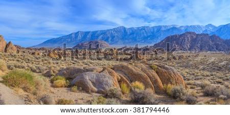 Alabama Hills, California, USA  - stock photo