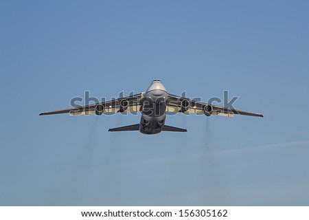 ALICANTE, SPAIN -SEPTEMBER 20: A Russian Antonov takes off on September 20, 2013 in Alicante.