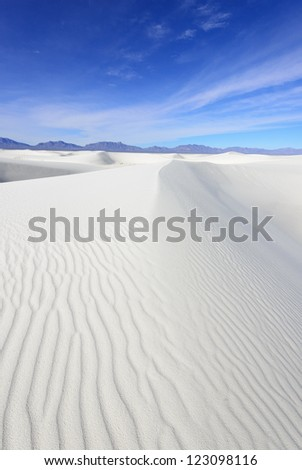 Alkali Flat Trail in White Sands National Monument, New Mexico, USA. - stock photo