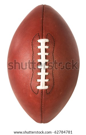 American Pro Football over top view with clipping path - stock photo