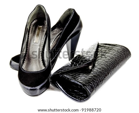 and shoes with heels - stock photo