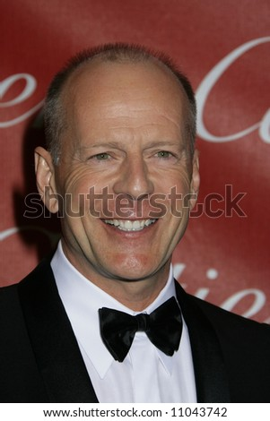 2008 Annual Palm Springs Film Festival held at the Palms Springs Convention Center Bruce Willis - stock photo