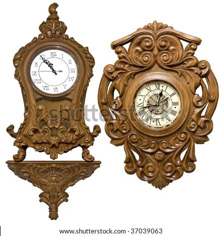 antique carved clock