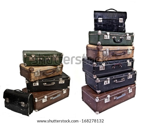 Antique suitcases