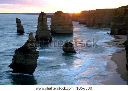 12 Apostles, Australia - stock photo