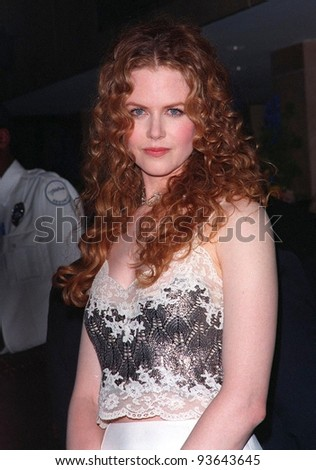 17APR98:  Actress NICOLE KIDMAN at the Beverly Hilton Hotel where husband Tom Cruise was honored with the 1998 John Huston Award by the Artists Rights Foundation. - stock photo