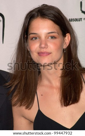 15APR2000: Dawson's Creek star KATIE HOLMES at the Gay & Lesbian Alliance Against Defamation (GLAAD) Awards in Los Angeles.  Paul Smith/Featureflash - stock photo