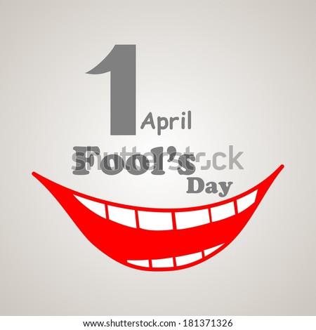 1 april. Fools Day.  illustration  - stock photo
