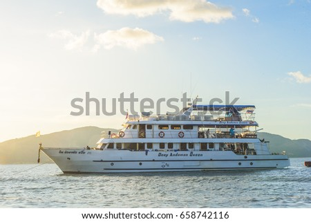 8 April 2017, Myanmar, Andaman Sea, Great Yachts in Andaman Sea