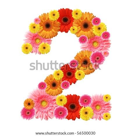 2, arabic numeral - stock photo