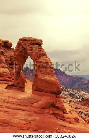 Arches National Park, Utah. - stock photo