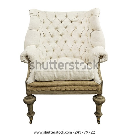 Armchair isolated on white.  - stock photo