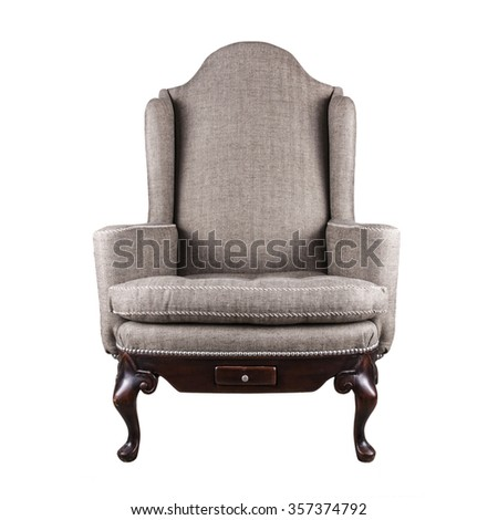 Armchair isolated on white.