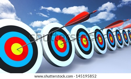 arrows and targets. That is the meaning of success.