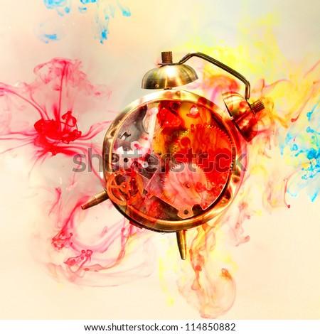 art clock - stock photo