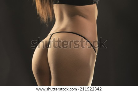 art photo of a woman's butt - stock photo