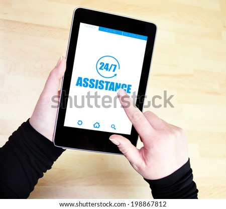 24/7 assistance - stock photo