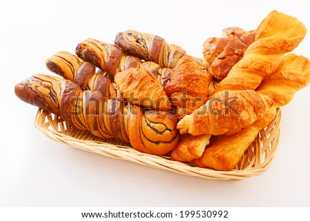 ?Assorted breads - stock photo